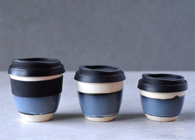 Reusable Takeaway Cup 8oz - Stormy Blue