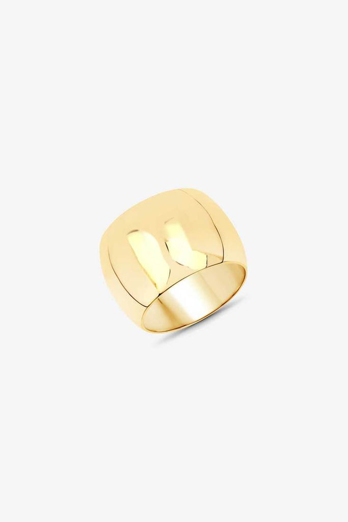 Ricci Cigar Band Ring - 14k Vermeil