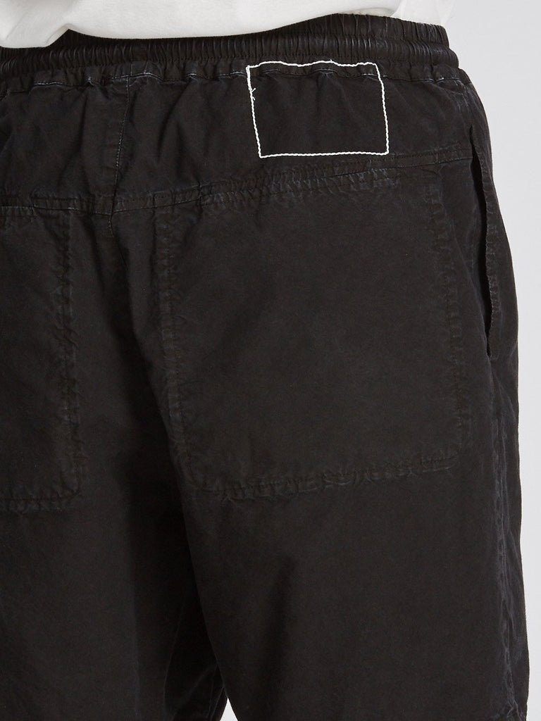 Washed Drill Short II - Washed Black