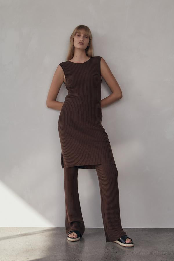Gia Knit Dress - Cocoa