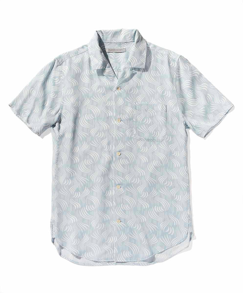 Midcentury BBQ SS Shirt - Blue Fog Cloudbreak