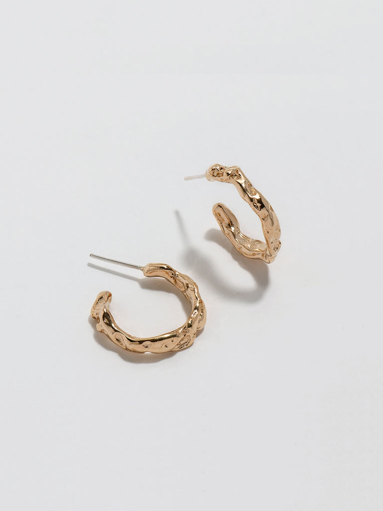Worn Hoops - Gold