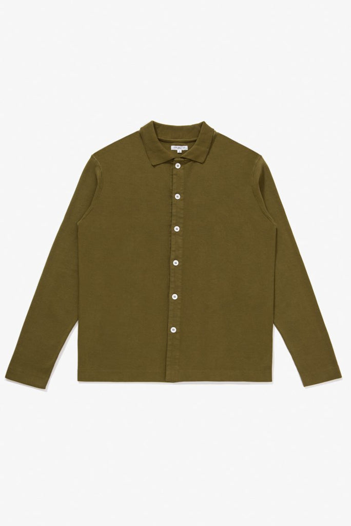 L/S Placket Polo - Fern Green