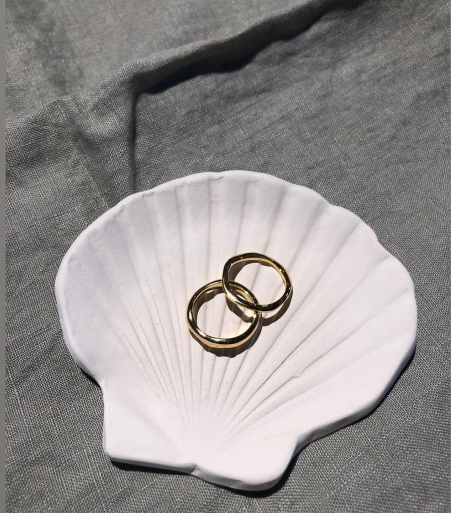 Sea Shore Ring dish (White)