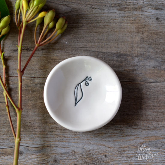 Bush Prints Porcelain Mini Bowl - Eucalypt