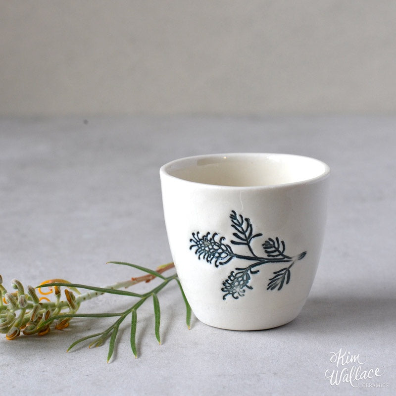 Bush Prints Porcelain Cup (Small) - Grevillea