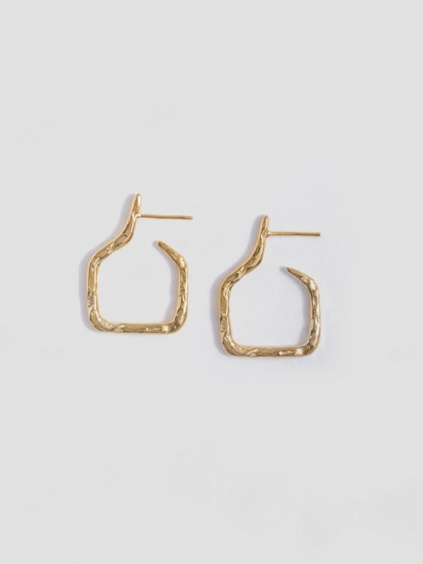 small amphora hoops - Gold