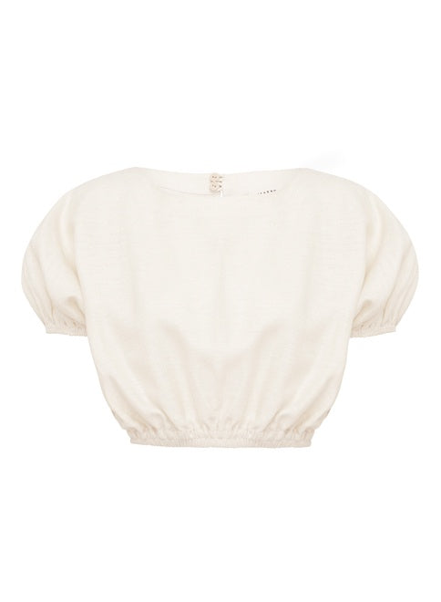 The Cropped Cocoon Blouse - Ivory