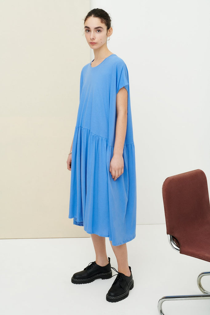 Gather Dress- Periwinnkle Blue