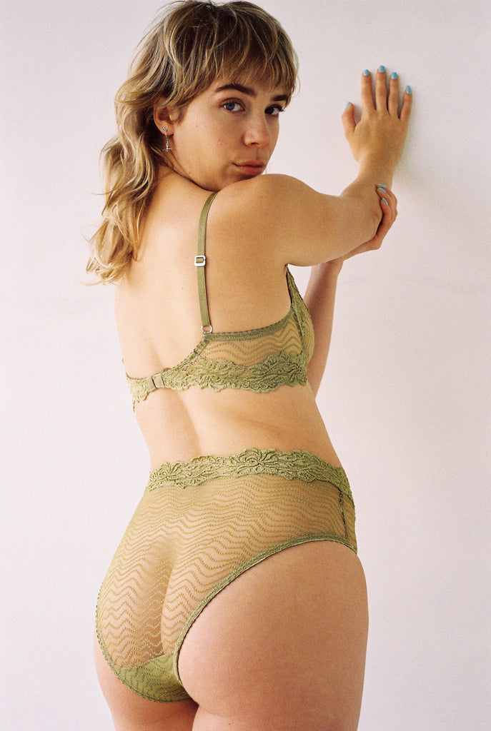 Bonnie High Waist Brief - Chartreuse