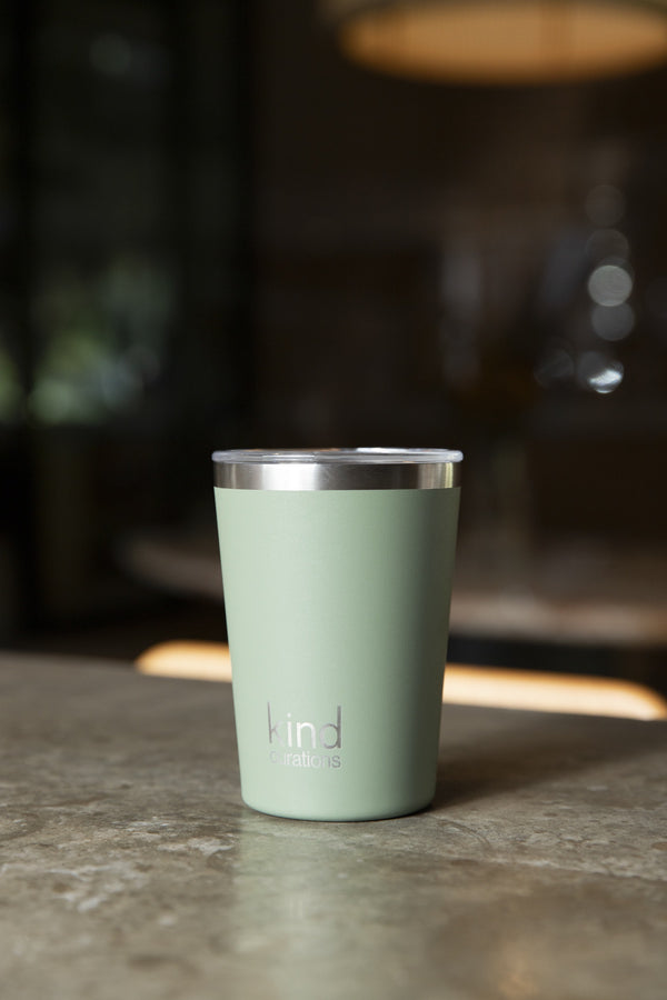 Kind Curations 12oz Insulated Coffee Cup - Eucalypt Green