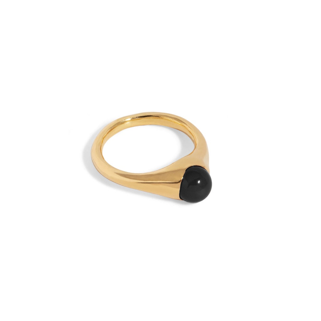 Bloom Ring with Onyx - 9ct Gold