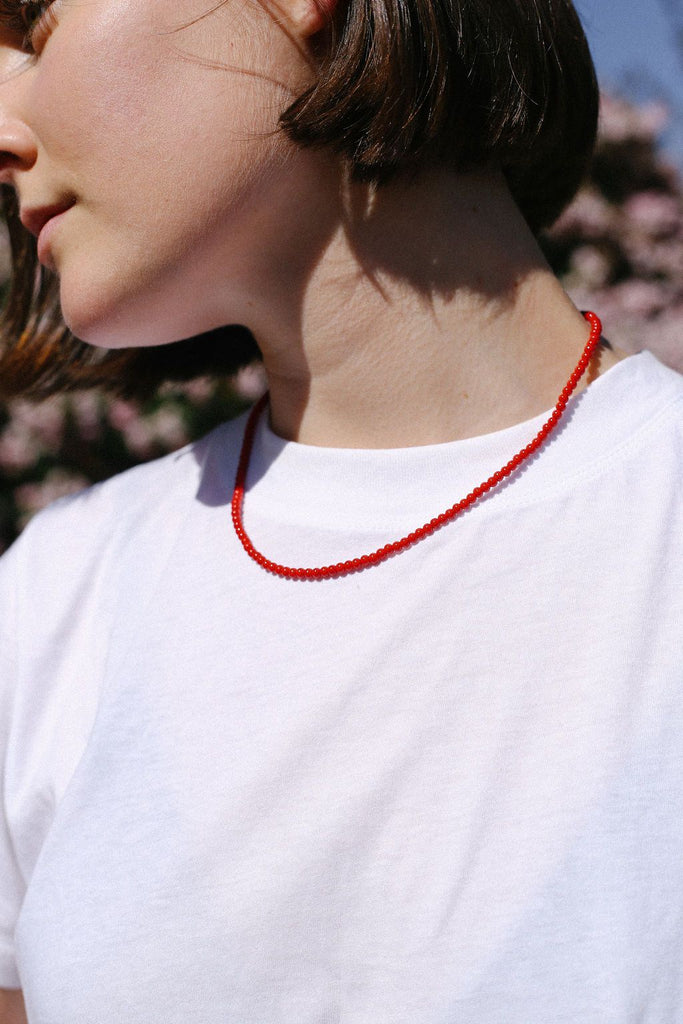 Margaux Necklace - Red
