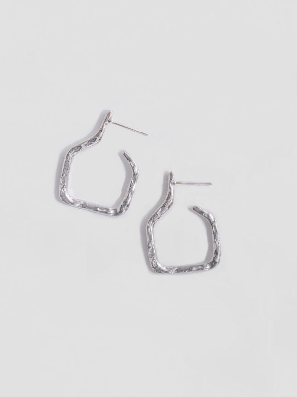 Small Amphora Hoops - sterling silver
