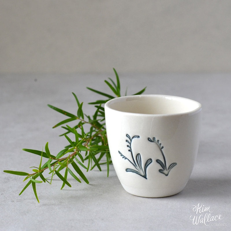 Bush Prints Porcelain Cup (small) - Kangaroo Paw