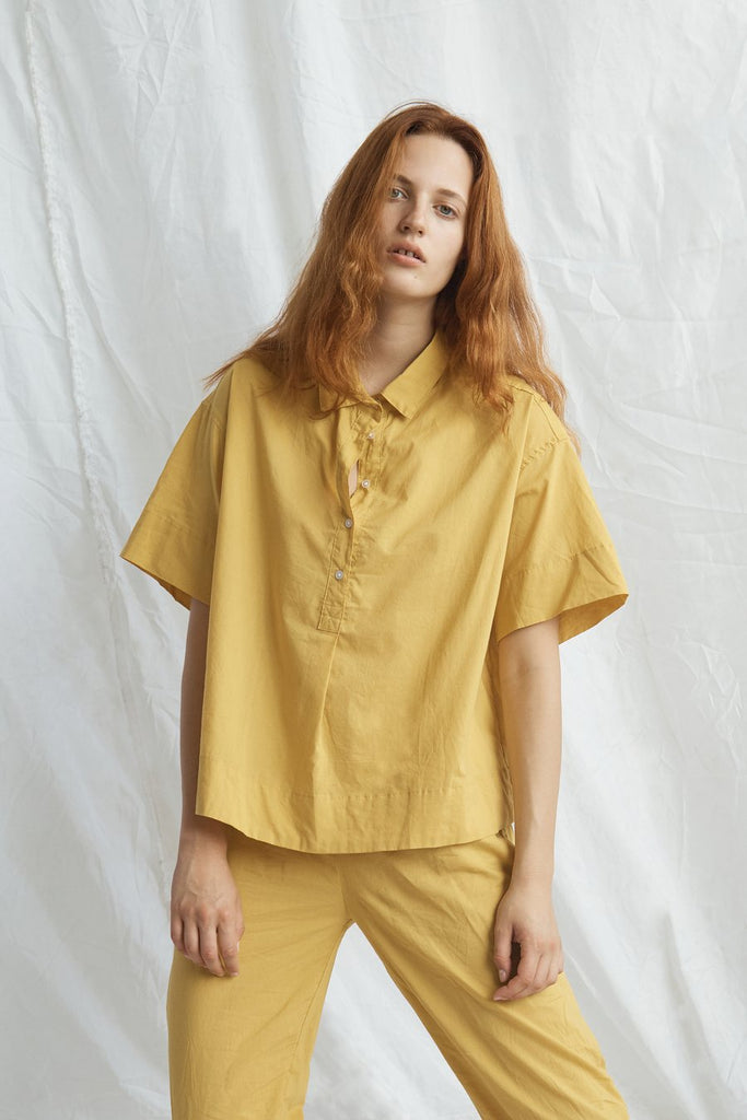 Cotton Golfing Shirt - Mustard