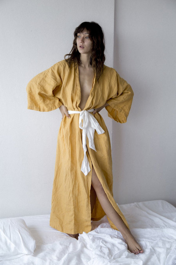 The 02 Full Length Robe - Mustard