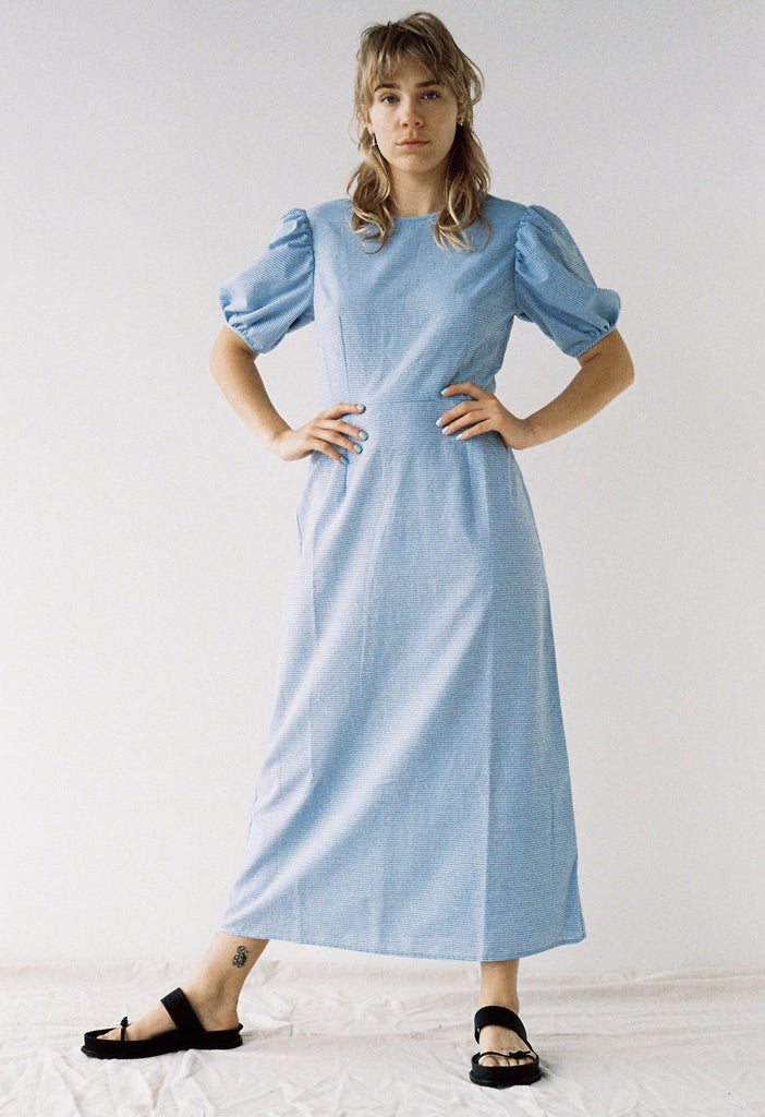Dusty Tee Dress - Blue Stripe