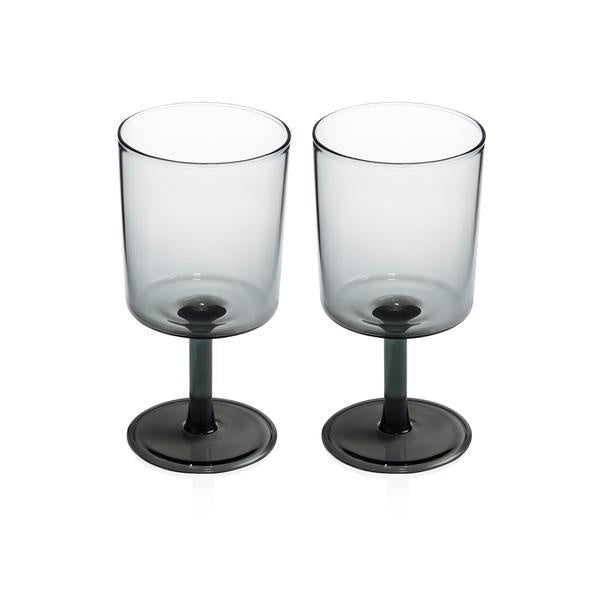2 Wine Glasses - Smoke