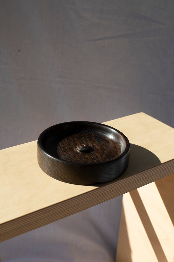 wooden incense holder - japanese stain on american oak