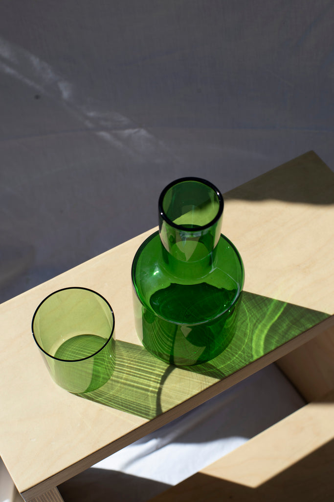 J`ai Soif Carafe and Glass Set - Green