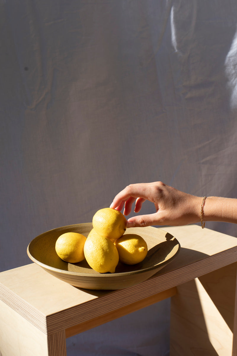 Ceramic Serving Bowl - Olive