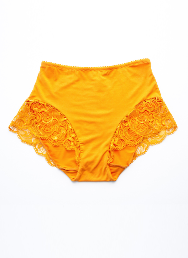 Olivia High Waist Brief - Mustard