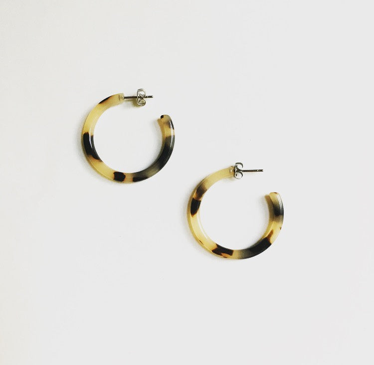 Mini Hoops - Blonde Tortoise