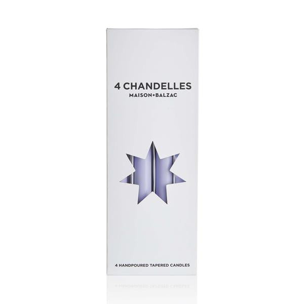 4 Chandelles - Tapered Candles - Bleuet