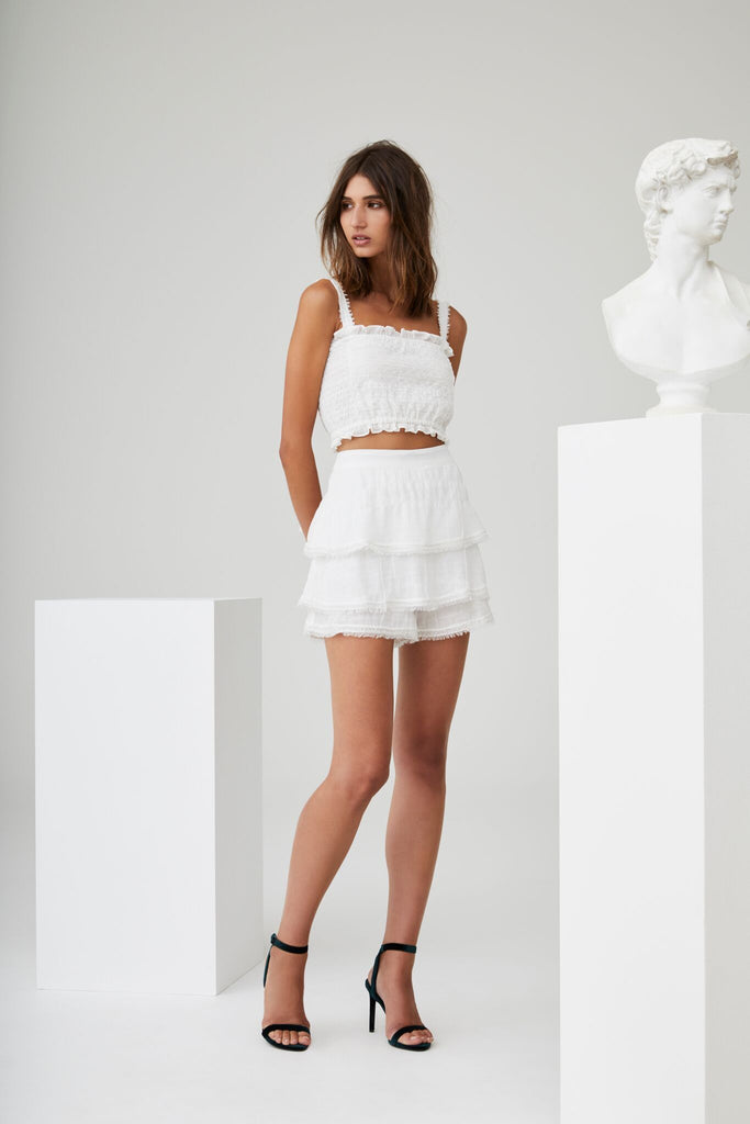Lucille Embroidered Skort - Ivory