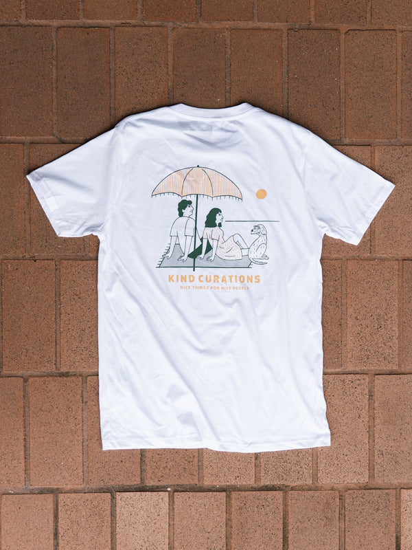 Kind Curations x James Eagle Beach T-shirt - White