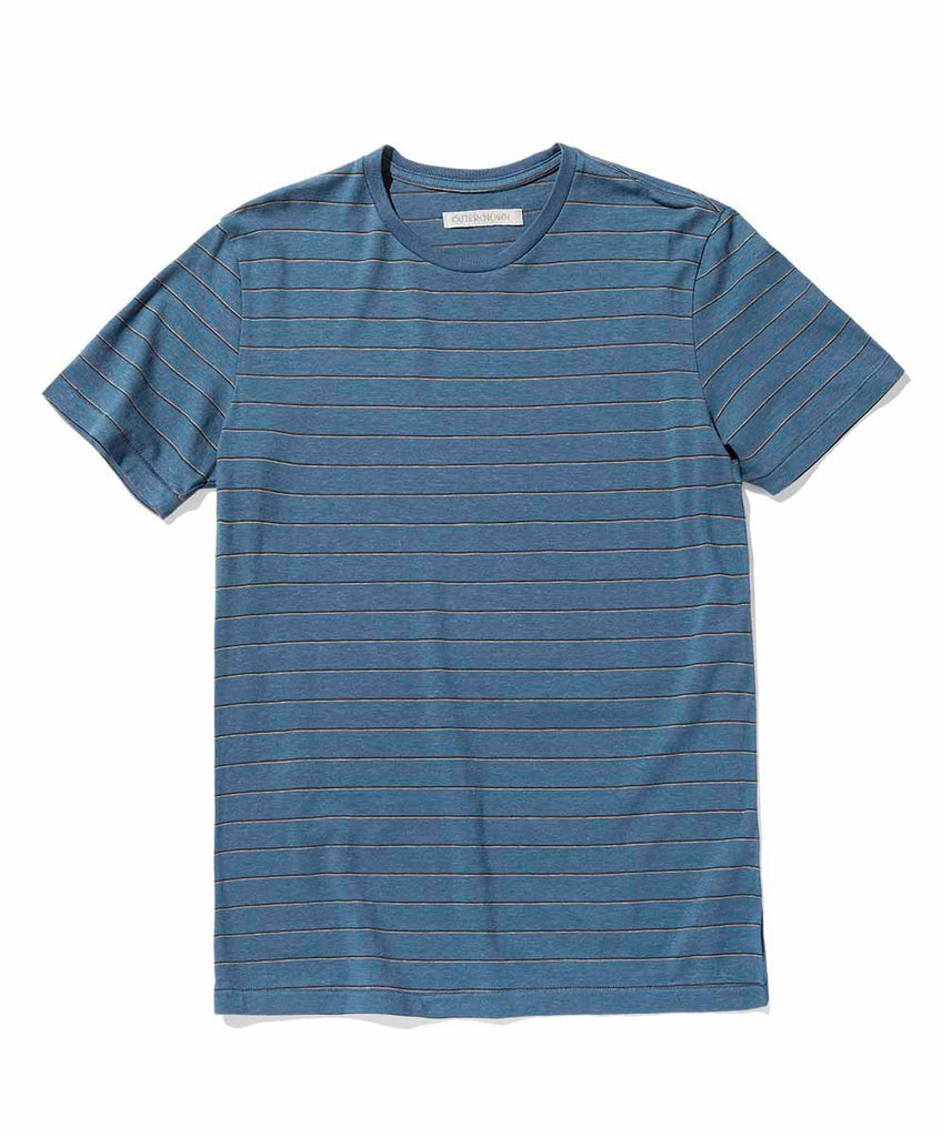 Hemp Stripe Tee - Fiji Blue Beach Stripe