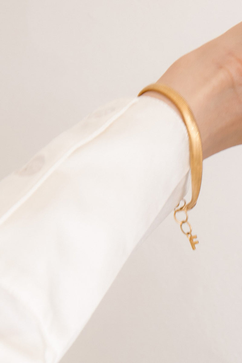Serpent Chain Bracelet - 18K Gold Plated Brass