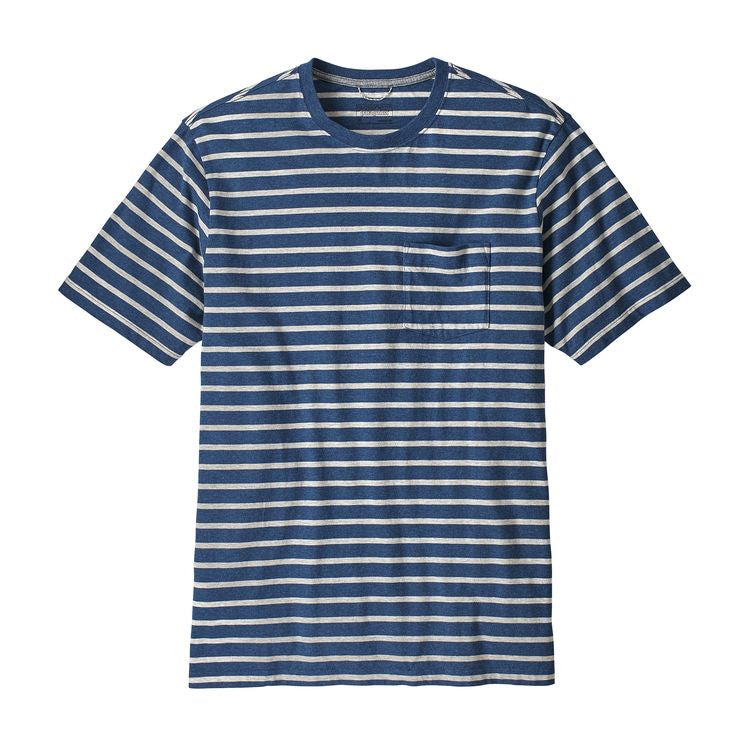 Men's Squeaky Clean Pocket Tee - Terrain Stripe Stone