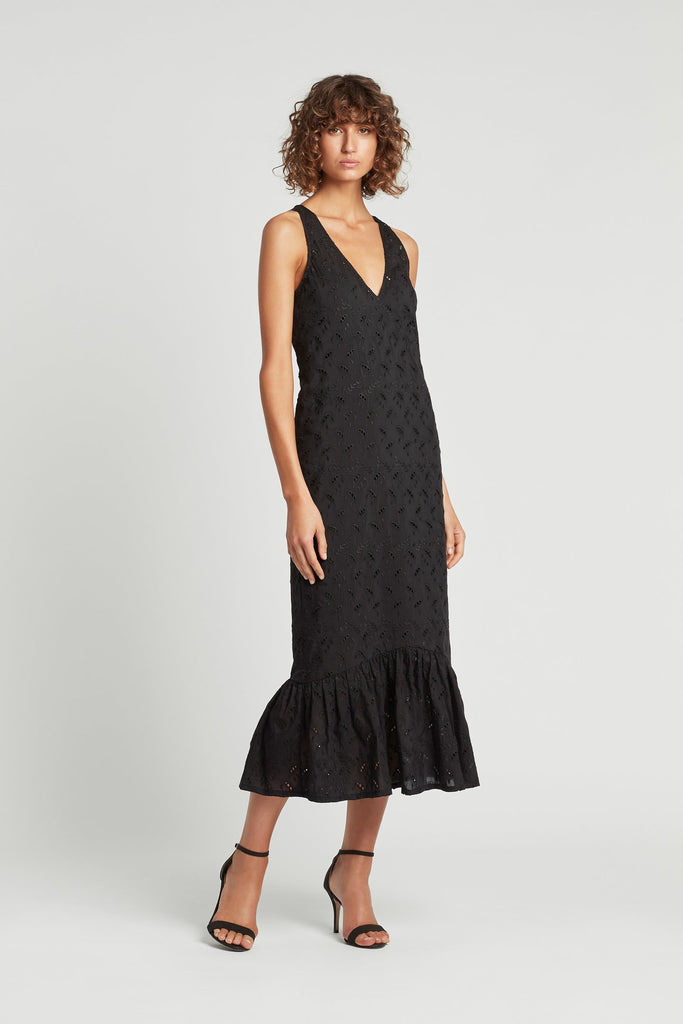 Elodie Midi Dress - Black
