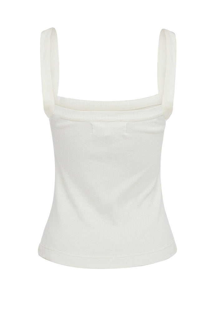 Lucille Rib Everyday Tank - Seashell