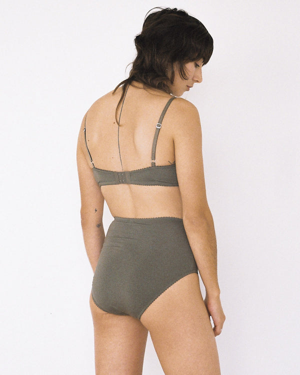 Bobbi High Waist Brief Olive