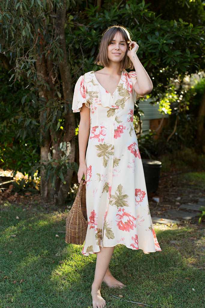 The Daisy Dress - Rose Floral
