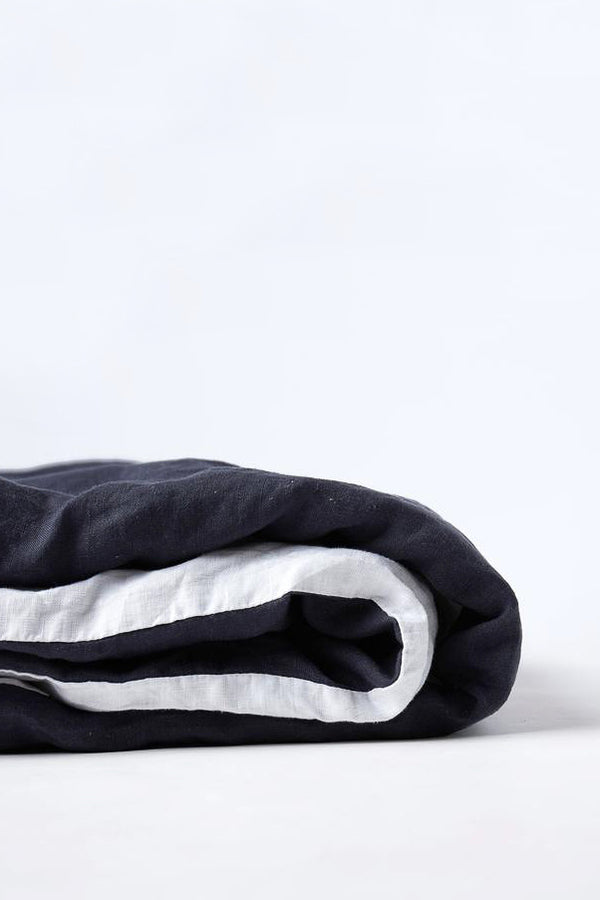 Duvet Cover - Navy/White