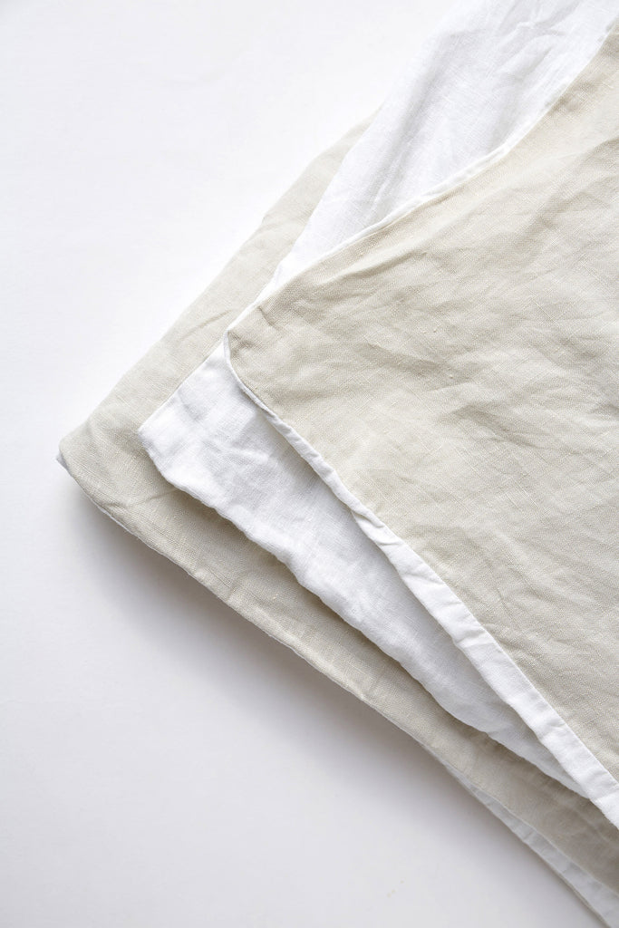 Duvet Cover - Oatmeal/White