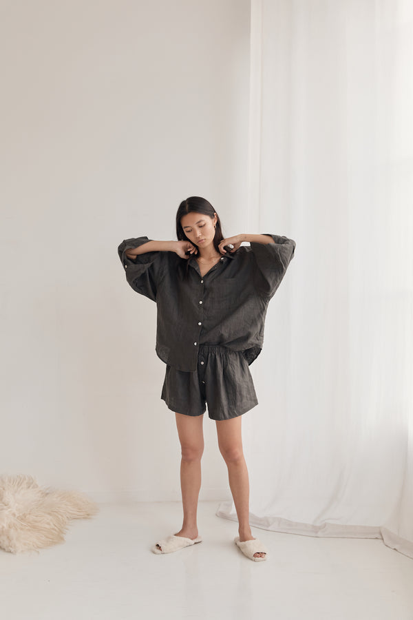 The 03 Loungewear Set - Washed Black