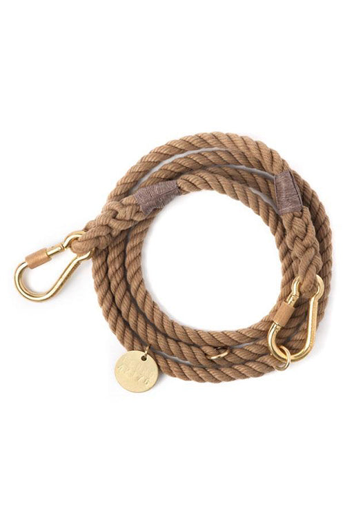 Rope Dog Leash - Dark Tan