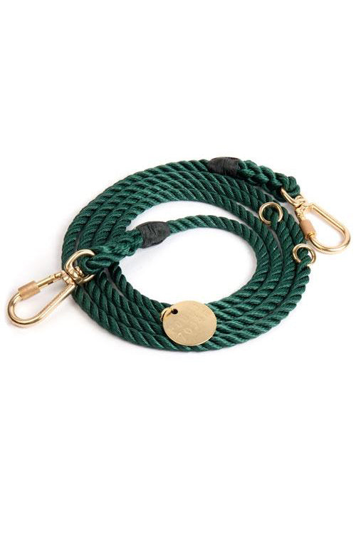 Rope Dog Leash - Hunter Green