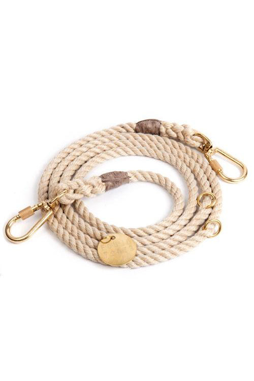 Rope Dog Leash - Light Tan