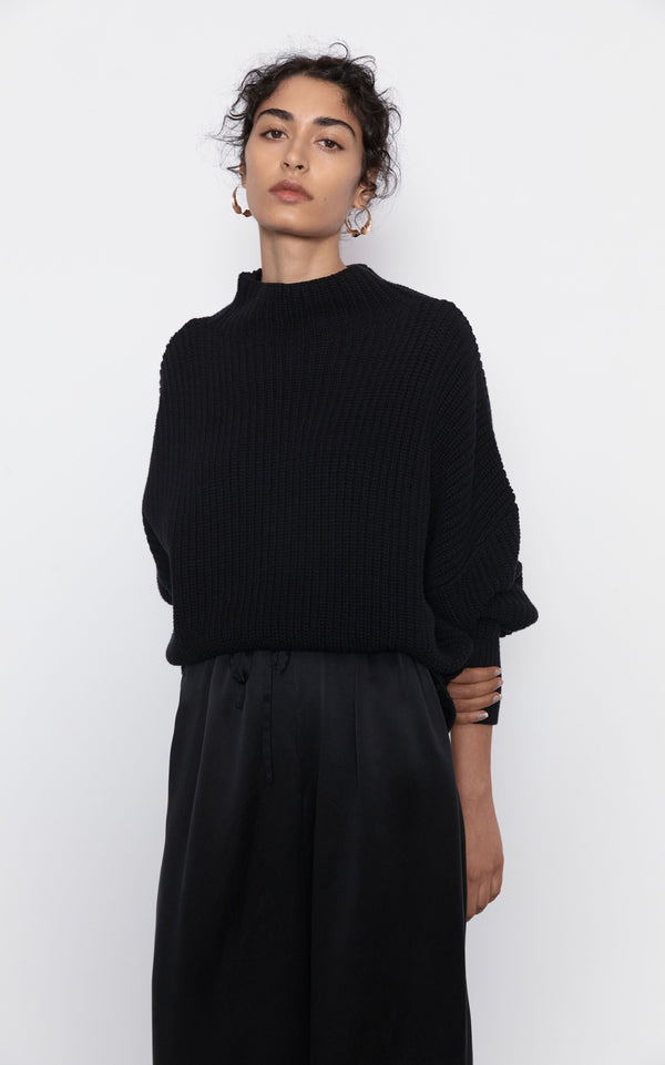 Jorn Fisherman Jumper - Black