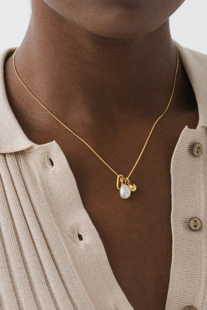 Vacation Charm Necklace - 14k Vermeil