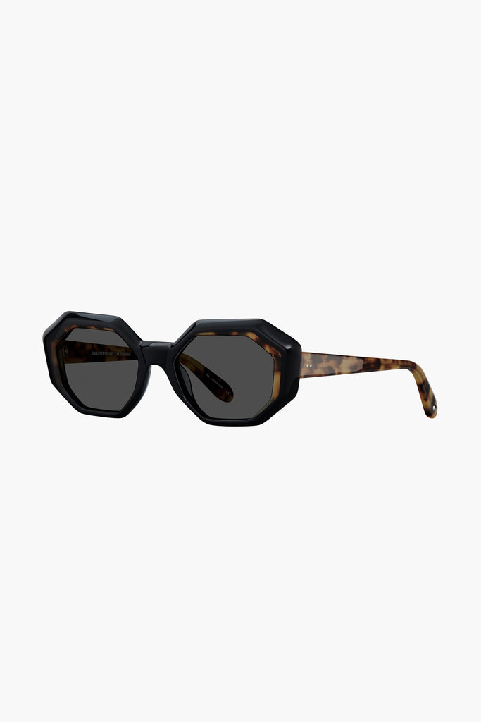 Jacqueline 50 Sunglasses - Black-Dark Tortoise/Semi-Flat Black