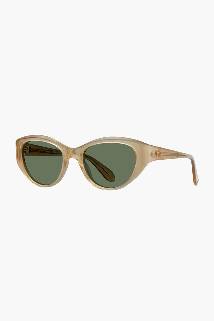 Del rey 50 Sunglasses - Blonde/Semi-flat Green