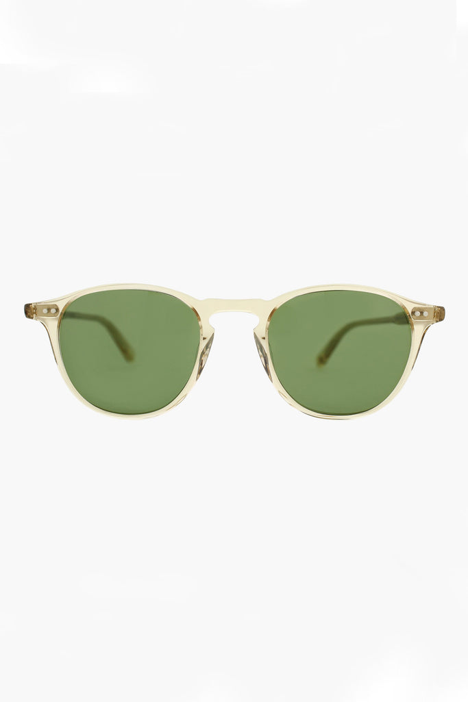 Hampton 46 Sunglasses - Champagne/Pure Green