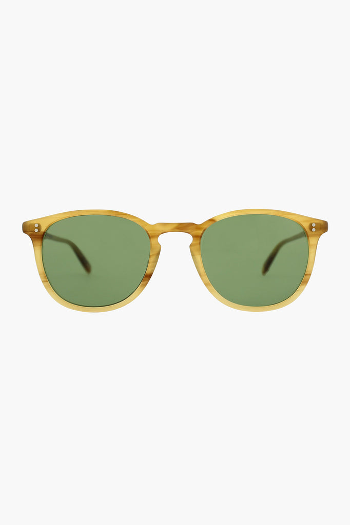 Kinney 49 Sunglasses - Blonde Tortoise Fade/Pure Green